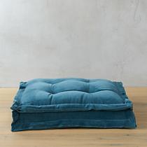 """velvet blue green 23"""" floor cushion"""