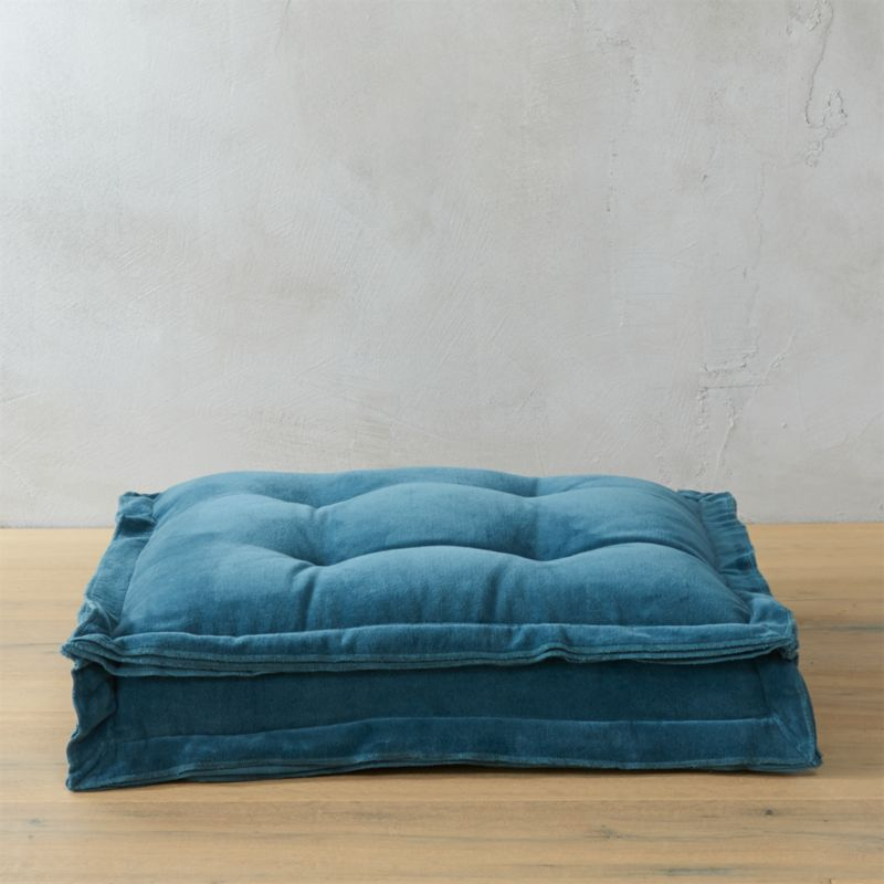 "velvet blue green 23"" floor cushion"