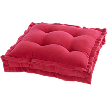 "velvet berry 23"" floor cushion"
