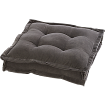 "velvet grey 23"" floor cushion"