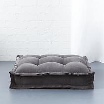 """velvet grey 23"""" floor cushion"""