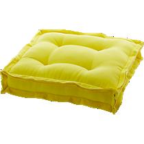 "velvet yellow 23"" floor cushion"