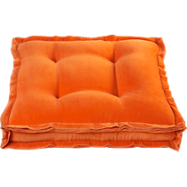 velvet orange 23&quot; floor pillow