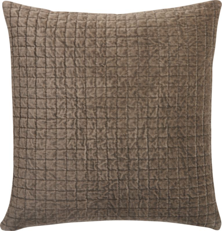"velvet patch shadow 23"" pillow"