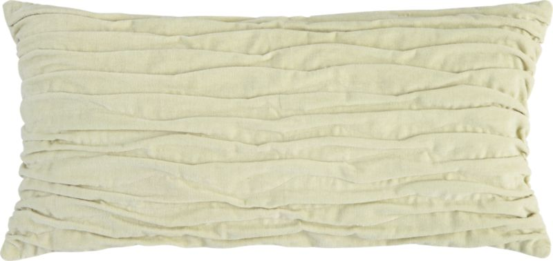 """velvet twist oat 23""""x11"""" pillow with down-alternative insert"""