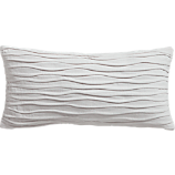 "velvet twist brite white 23""x11"" pillow with feather-down insert"