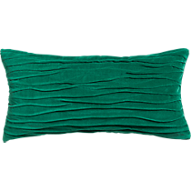 "velvet twist hunter green 23""x11"" pillow"
