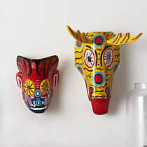 venado and sol masks set of two