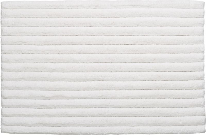 vertical stripe white bath rug