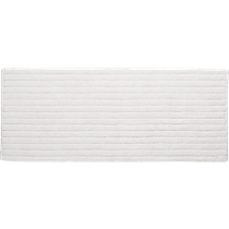 vertical stripe white bath runner