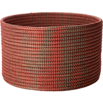 vertical stripe large orange basket