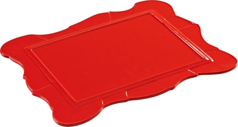 vicki red-orange platter