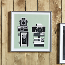 vintage camera screenprint