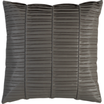 vinyl grey 16&quot; pillow