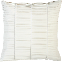 vinyl white 16&quot; pillow