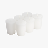 set of 6 votive candles
