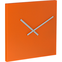 square orange 20&quot; wall clock