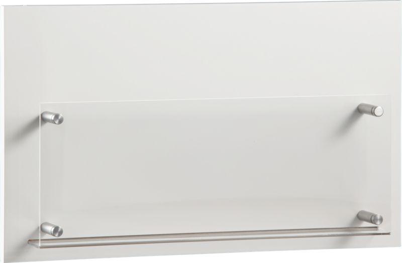 white wall magazine rack