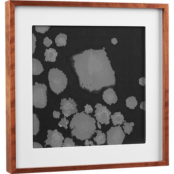 walnut 12x12 box picture frame cb2. Black Bedroom Furniture Sets. Home Design Ideas