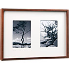 walnut multi 5x7 box picture  frame.