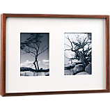 walnut multi 5x7 box picture frame