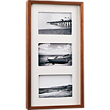 walnut multi 4x6 box picture frame