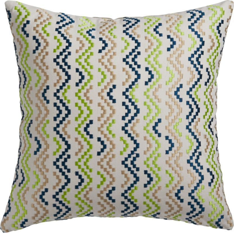 "weave embroidery 16"" pillow with down-alternative insert"