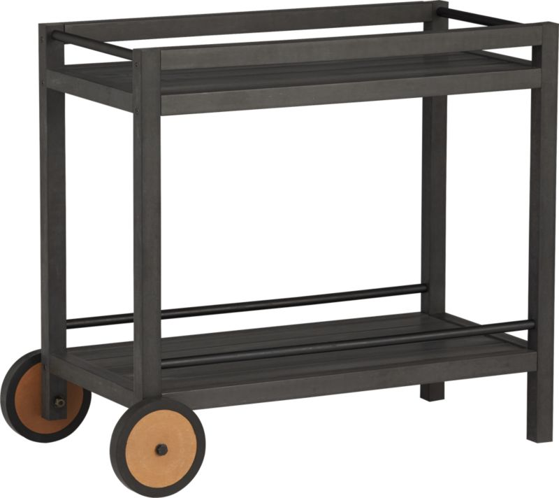 wheelie bar cart-plant stand