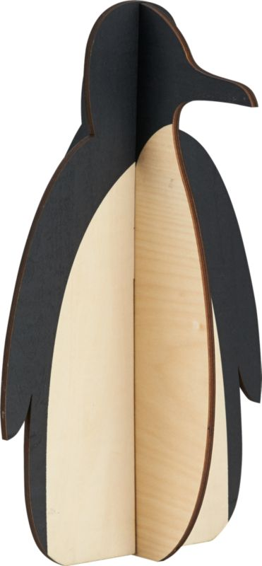large wood penguin