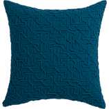 """woolsley blue-green 18"""" pillow  with feather-down insert"""