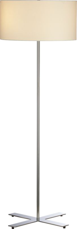 x chrome floor lamp