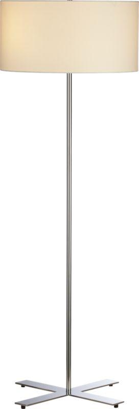 x chrome floor lamp