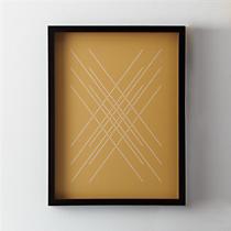 yield woven metallic print