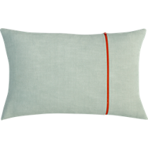 zipper mint 18&quot;x12&quot; pillow