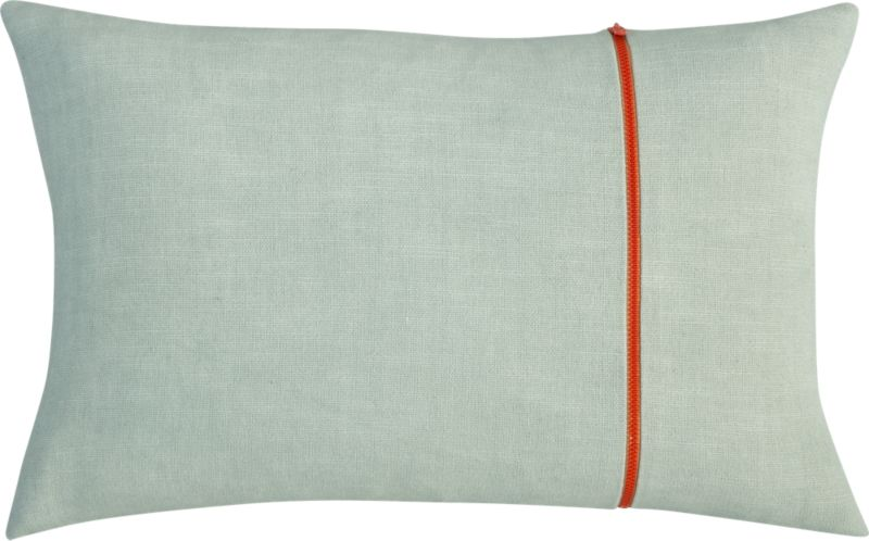 "zipper mint 18""x12"" pillow"