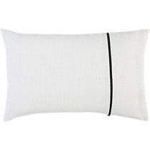 zipper white 18&quot;x12&quot; pillow