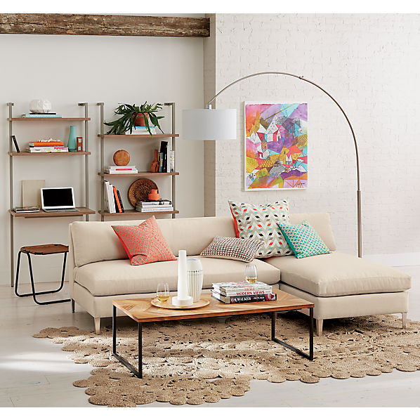 Cielo Ii 2 Piece Sectional Sofa Ivory Cb2