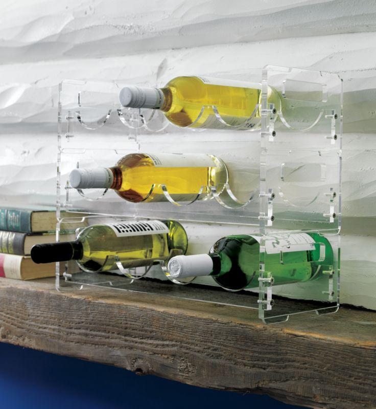 clear wine rack