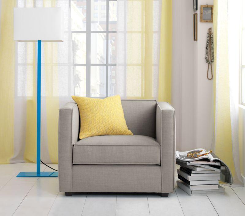 French-Belgian white stripe yellow linen panel
