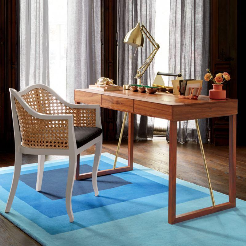 blue block rug