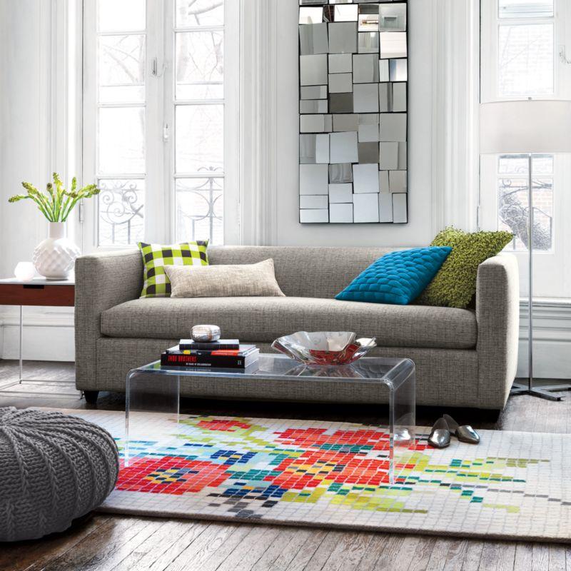 pixel flower rug