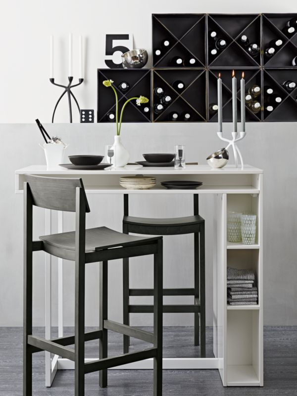 public white high dining table