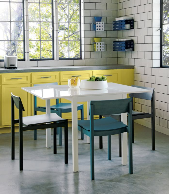 slide bistro table with 2 aqua chairs