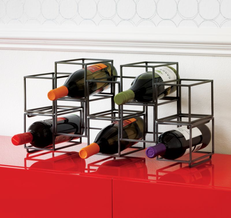 stacked wine storage