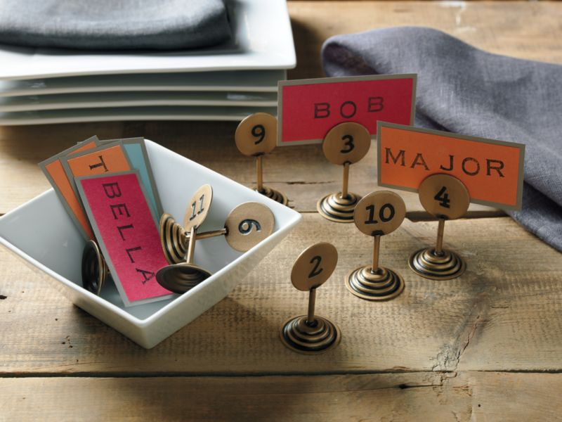 table by numbers placecard holders set of 12