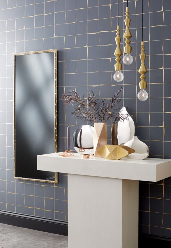 "tork brass 20""x48"" dripping mirror"