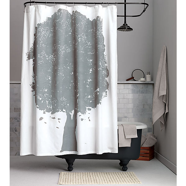 tree shower curtain cb2